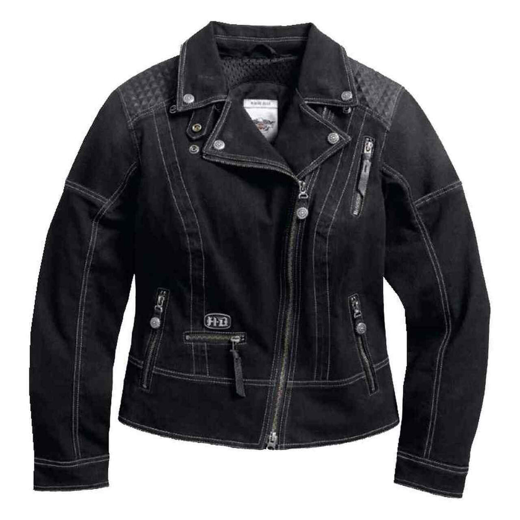Harley-Davidson® Women's Specter Coated Denim Riding Jackett - 97160-17VW