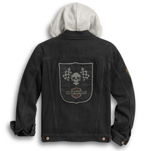 Harley-Davidson® Mens Skull Flag Denim Jacket Jackets
