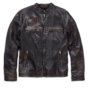 Harley-Davidson® Mens Speed Distressed Slim Fit Leather Jacket - 98004-18Vm Casual Jackets