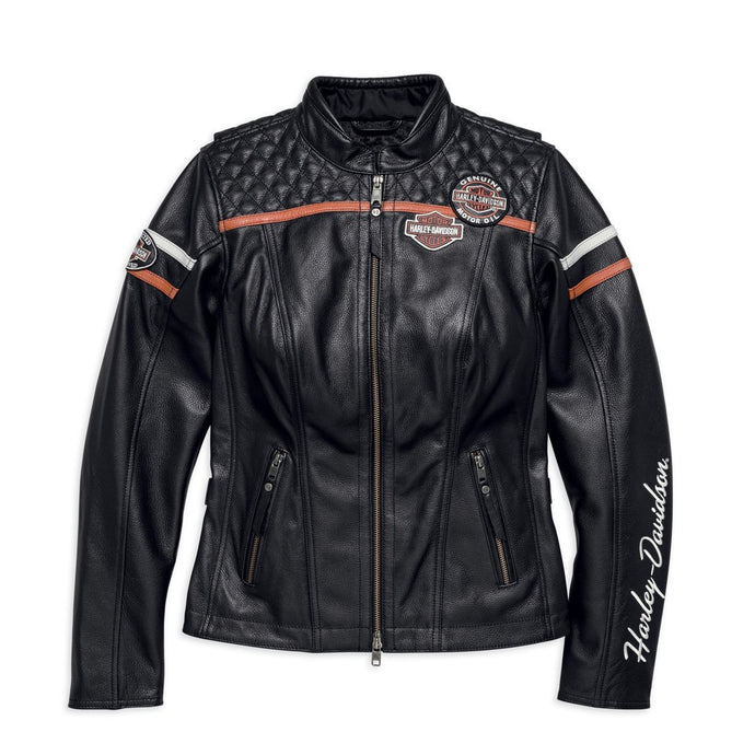Harley-Davidson® Womens Miss Enthusiast Leather Jacket - 98030-18Ew Riding Jackets