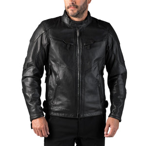 Harley-Davidson® Mens Fxrg Triple Vent System Waterproof Leather Jacket - 98038-19Em Riding Jackets