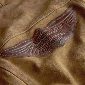 Harley-Davidson® Womens Gauges Suede Leather Jacket - 98040-19Vw Casual Jackets