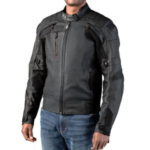 Harley-Davidson® Mens Fxrg Gratify Slim Fit Leather Jacket With Coolcore Technology - 98051-19Em