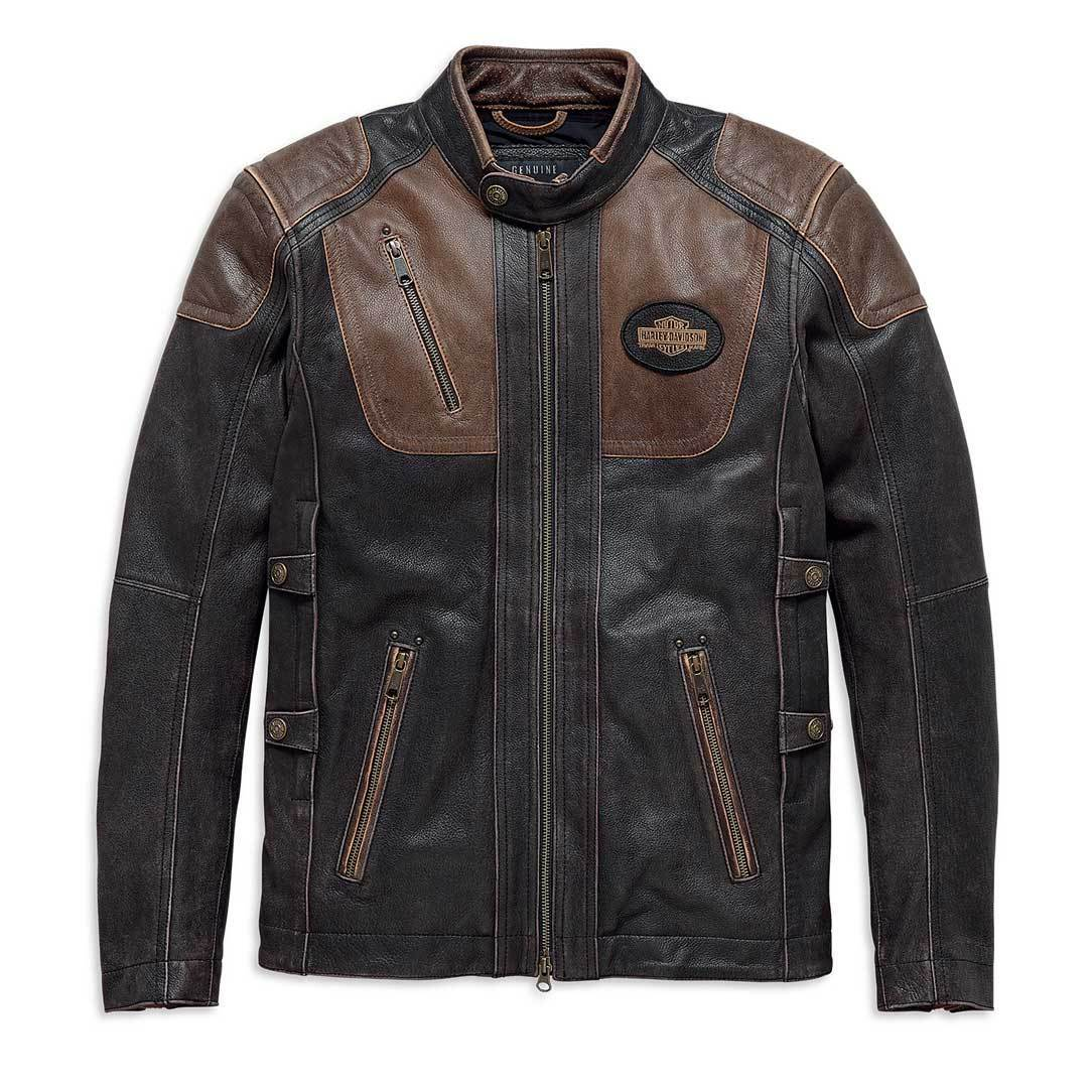 Harley-Davidson® Mens H-D Triple Vent System Trostel Leather Jacket - 98053-19Em Riding Jackets