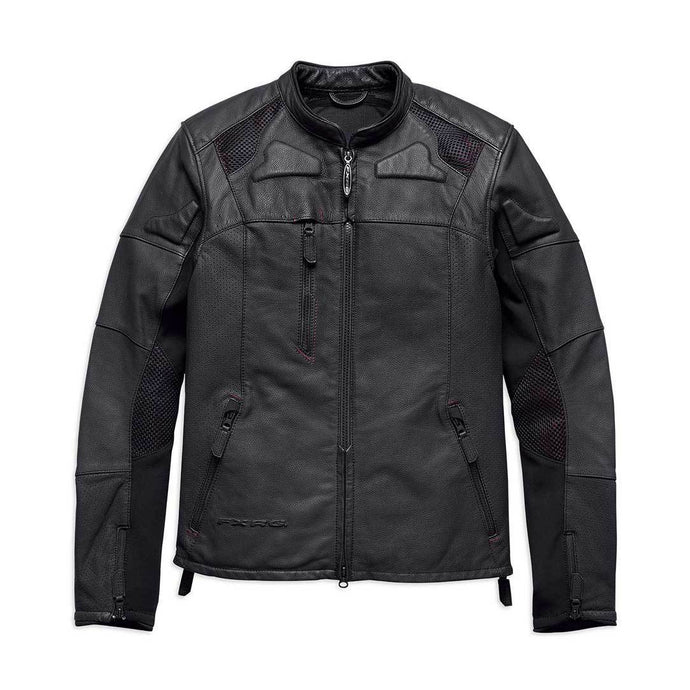 Harley-Davidson® Mens Fxrg Perforated Slim Fit Leather Jacket - 98057-19Em Riding Jackets
