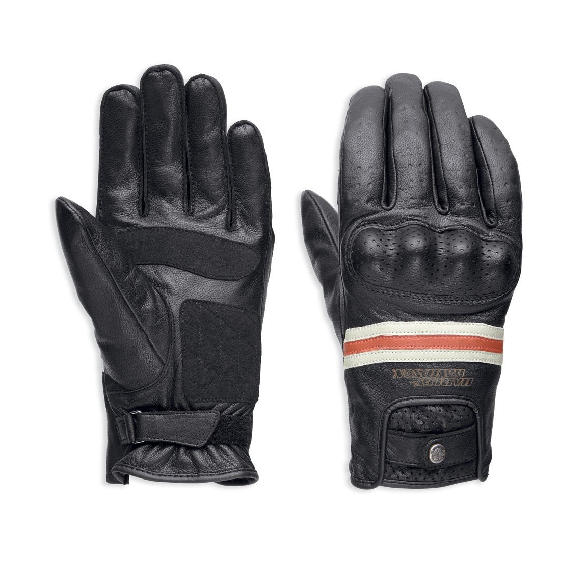 Harley-Davidson® Mens Reaver Leather Gloves - 98178-18Em