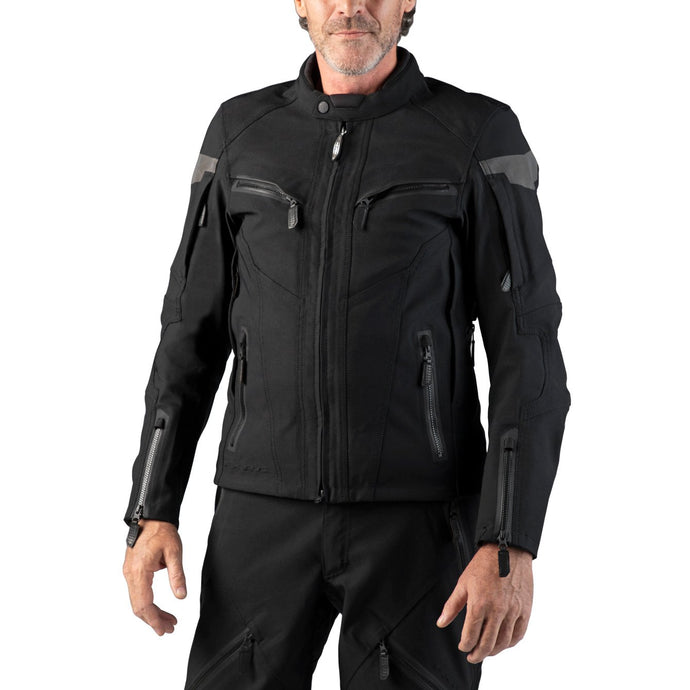 Harley-Davidson® Mens Fxrg Triple Vent System Waterproof Leather Jacket - 98261-19Em Riding Jackets