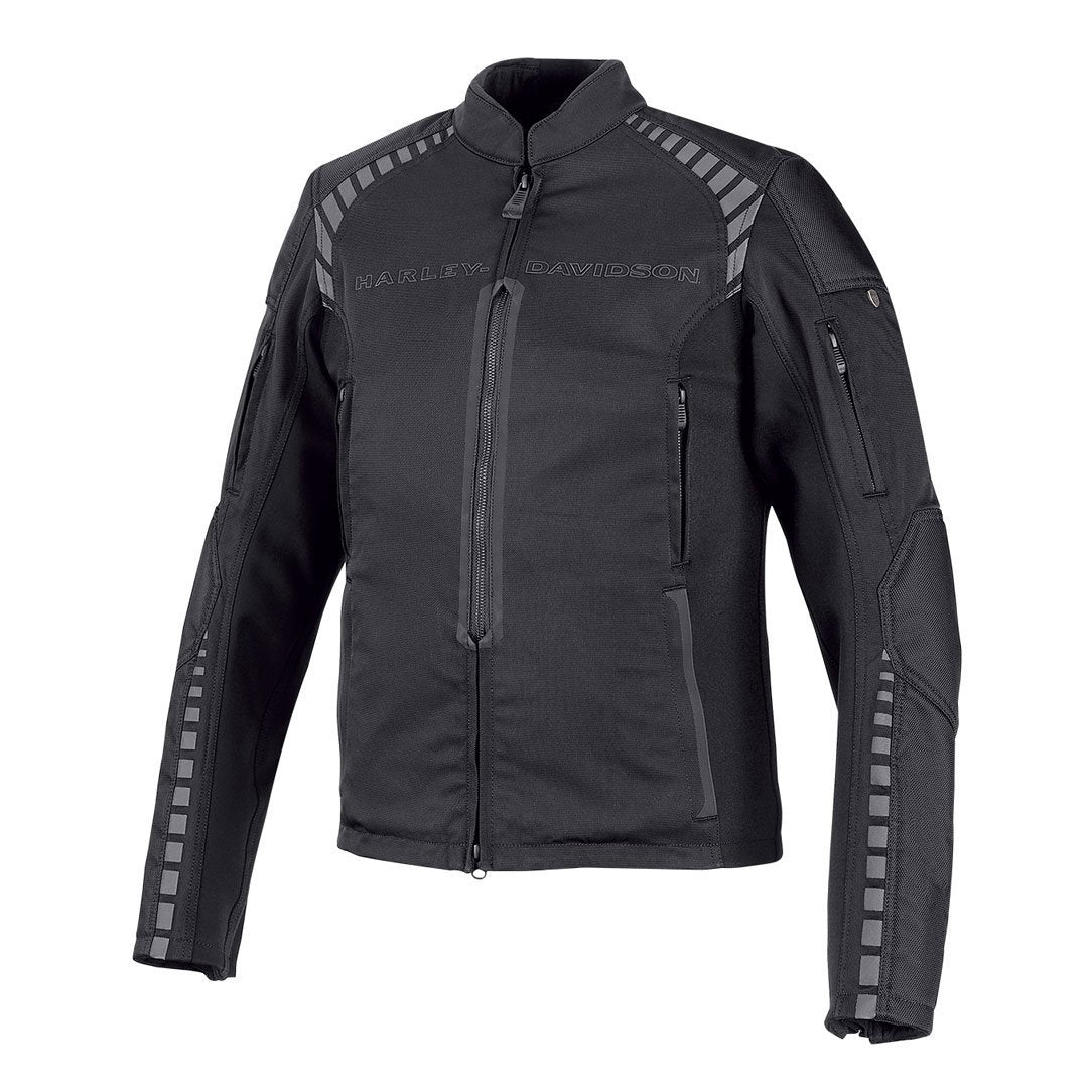 Harley-Davidson® Mens Geyser Stretch Slim Fit Riding Jacket - 98391-19Em Jackets