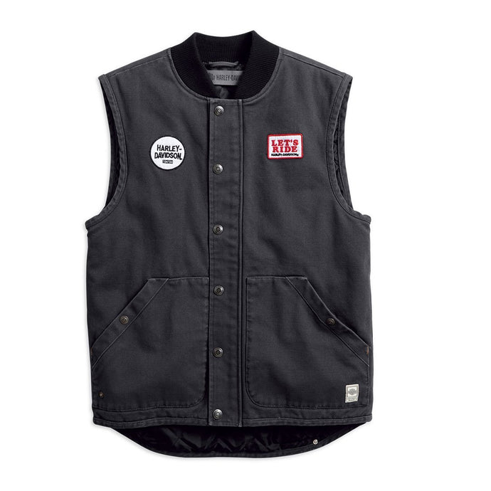 Harley-Davidson® Mens Quilted Slim Fit Workwear Vest - 98416-19Vm Vests