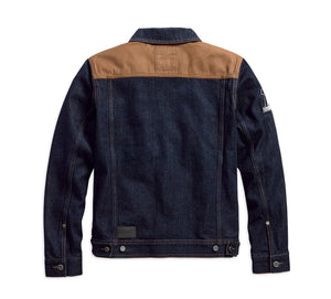 Harley-Davidson® Mens Waxed Canvas Slim Fit Denim Jacket - 98588-18Vm Casual Jackets