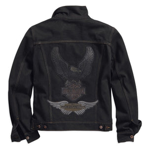 Harley-Davidson® Mens Eagle Appliqué Slim Fit Denim Jacket - 98592-18Vm Casual Jackets