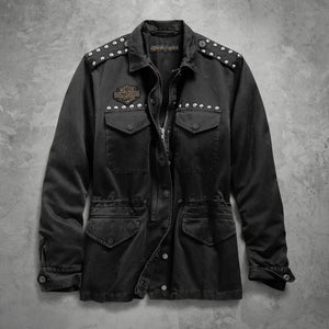 Harley-Davidson® Womens Studded Field Jacket - 98595-19Vw Casual Jackets