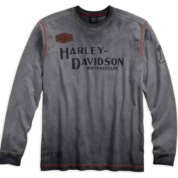 Harley-Davidson® Mens Iron Block Long Sleeve Tee - 99010-17Vm Tees