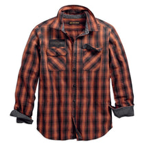 Harley-Davidson® Mens Oak Leaf Plaid Slim Fit Shirt - 99010-18Vm Shirts