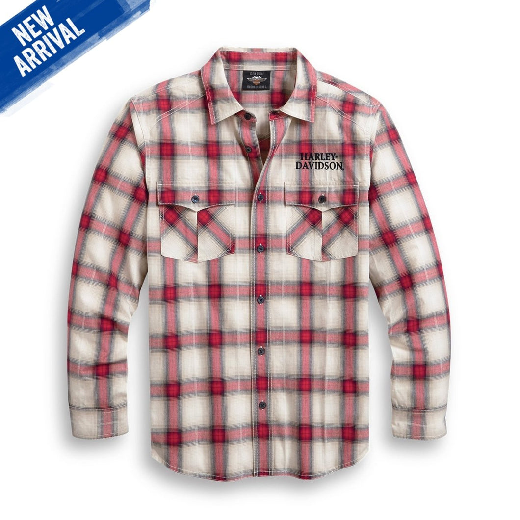 Harley-Davidson® Mens Freedom Plaid Shirt Shirts
