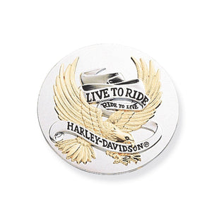 Harley-Davidson 3.5 in. Live To Ride Gold Medallion - 99027-90T