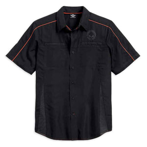 Harley-Davidson® Mens Black Vented Performance Skull Shirt - 99034-15Vm Shirts