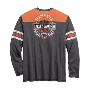 Harley-Davidson® Mens Genuine Oil Can Henley - 99064-18Vm Henleys