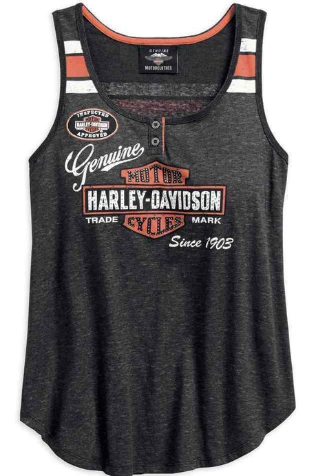 Harley-Davidson® Womens Genuine Oil Can Tank - 99069-18Vw Tops