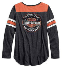 Harley-Davidson® Womens Genuine Oil Can Henley - 99070-18Vw Henleys