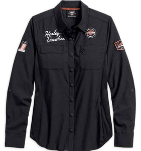 Harley-Davidson® Womens Performance Fast Dry Vented Classic Shirt - 99076-18Vw Shirts