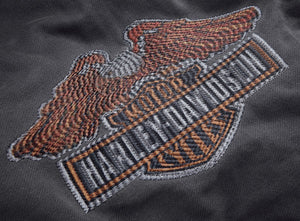 Harley-Davidson® Mens Steel Grey Eagle Logo Slim Fit Hoodie - 99089-18Vm Hoodies