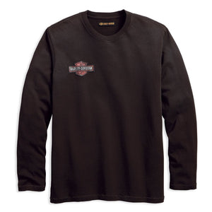 Harley-Davidson® Mens Anthracite Embroidered Long Sleeve Tee - 99091-18Vm Tees