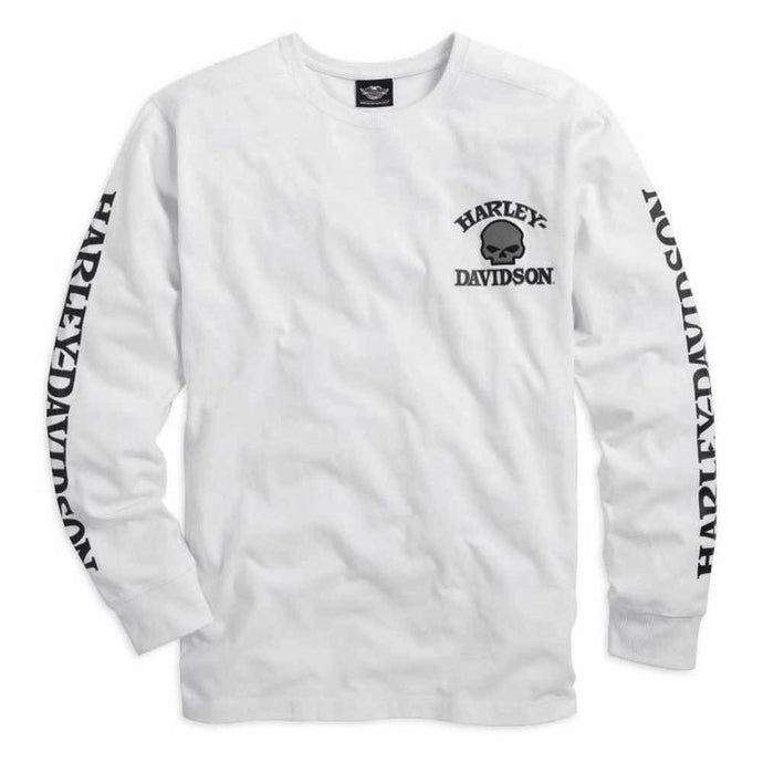 Harley-Davidson® Mens Skull Long Sleeve Tee White - 99092-14Vm Tees