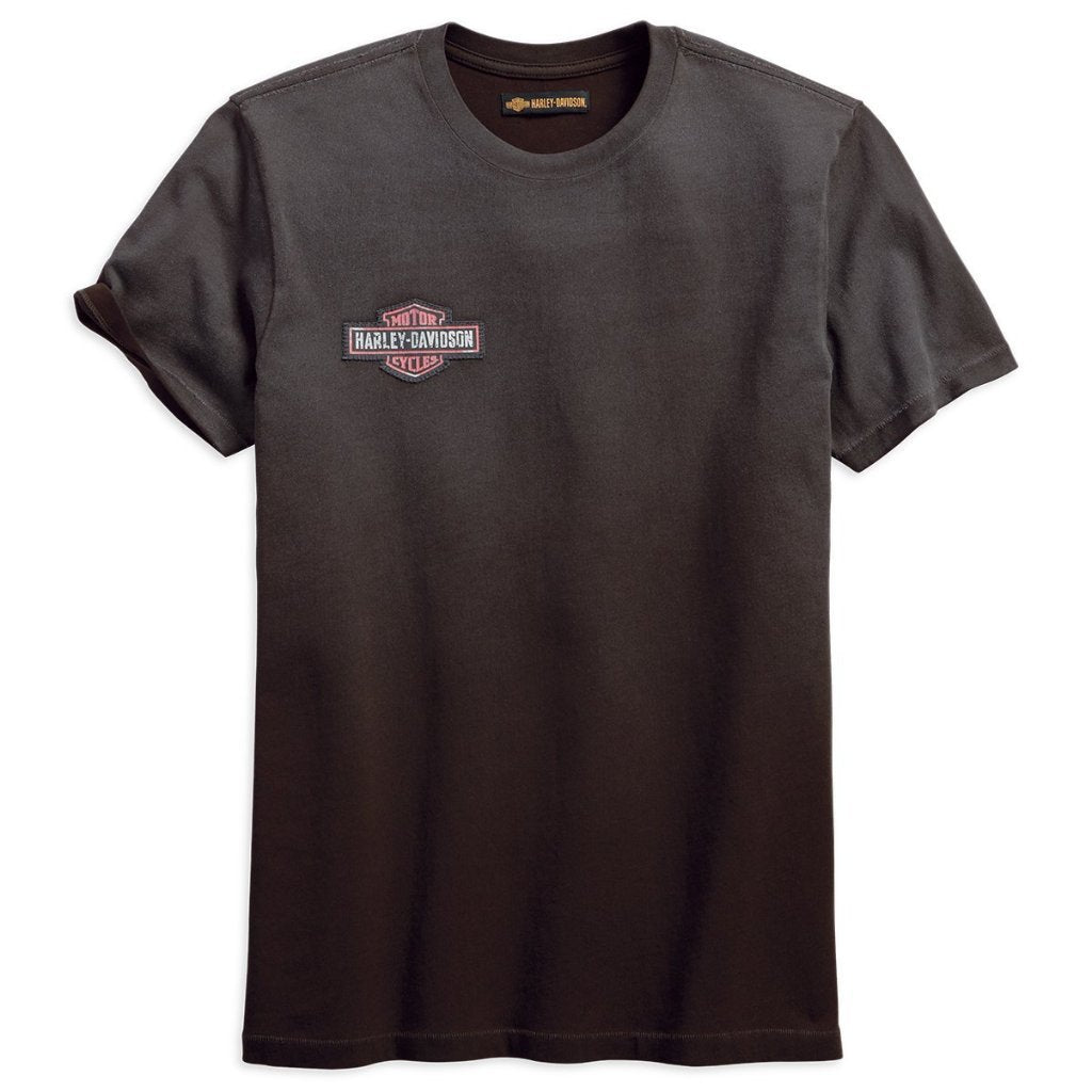 Harley-Davidson® Mens Anthracite Jersey Appliqué Slim Fit Tee - 99092-18Vm T-Shirts