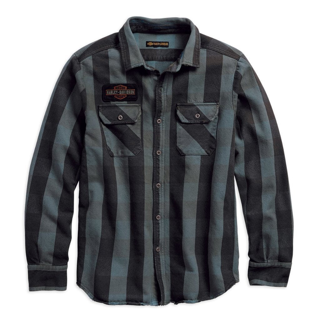 Harley-Davidson® Mens Eagle Plaid Slim Fit Long Sleeve Shirt - 99095-18Vm Shirts