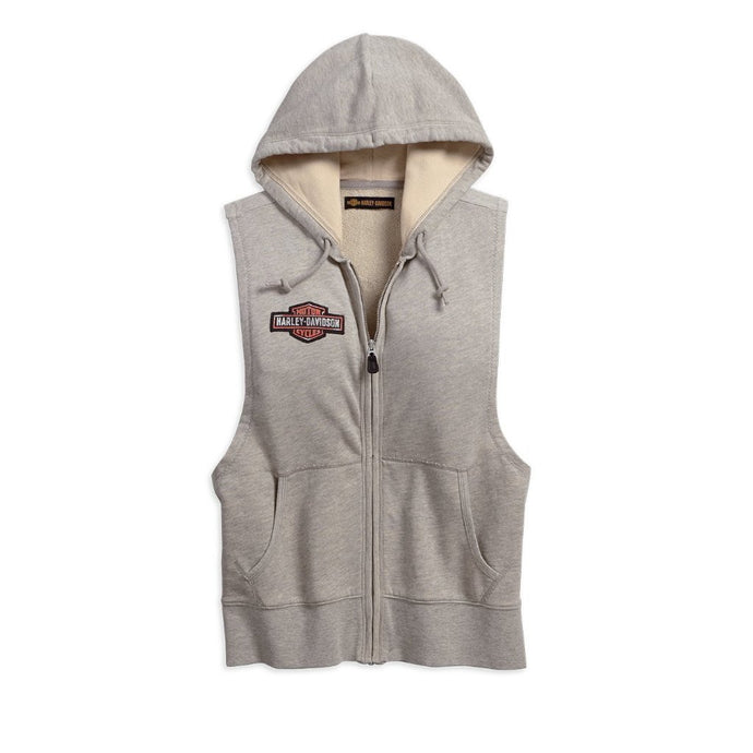Harley-Davidson® Womens Studded Sleeveless Hoodie - 99098-18Vw Hoodies