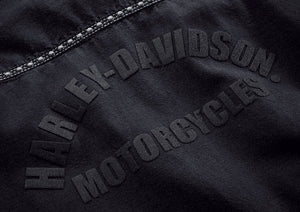 Harley-Davidson® Womens Studded Raw Hem Long Sleeve Shirt - 99102-18Vw Shirts