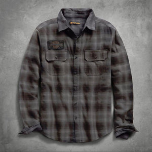Harley-Davidson® Mens Sublimated Logo Plaid Slim Fit Shirt - 99137-19Vm Shirts