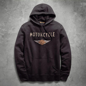 Harley-Davidson® Mens Felt Patch Slim Fit Pullover Hoodie - 99143-19Vm Hoodies