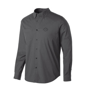 Harley-Davidson® Mens Stretch Long Sleeve Slim Fit Shirt - 99150-19Vm Shirts