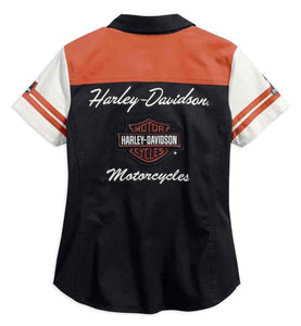 Harley-Davidson® Womens Classic Colorblock Zip-Front Shirt - 99170-17Vw Shirts