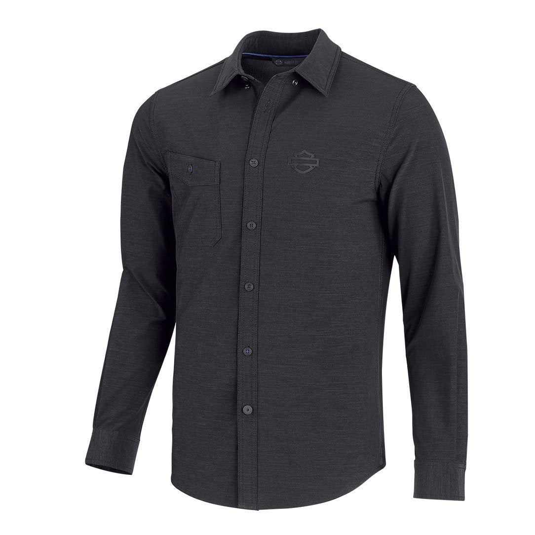 Harley-Davidson® Mens Double Weave Stretch Slim Fit Shirt - 99192-19Vm Shirts