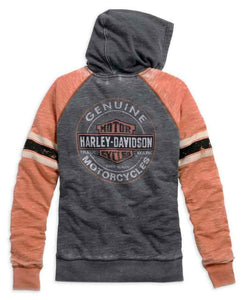 Harley-Davidson® Womens Genuine Oil Can Burnout Hoodie - 99195-14Vw Hoodies