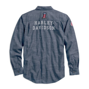 Harley-Davidson® Mens Retro Race Flag Slim Fit Shirt - 99195-19Vm Shirts