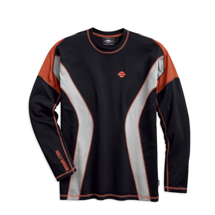 Harley-Davidson® Mens Performance Long Sleeve Tee With Coolcoretechnology - 99198-19Vm Lond Tees