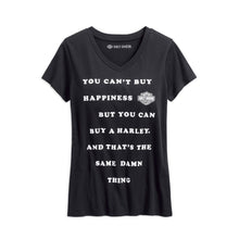 Harley-Davidson® Womens Cant Buy Happiness V-Neck Tee - 99230-19Vw T-Shirts