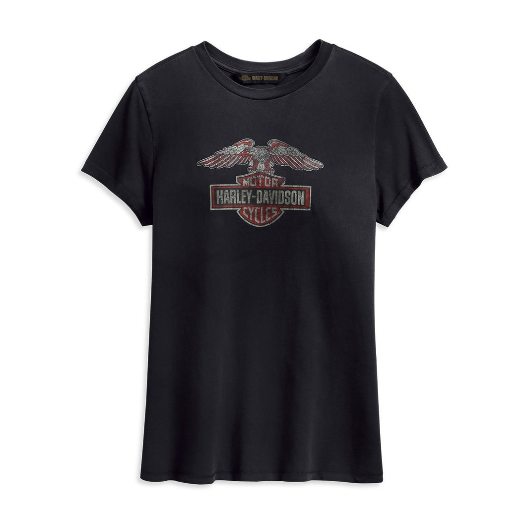Harley-Davidson® Womens Distressed Eagle Logo Tee - 99231-19Vw T-Shirts
