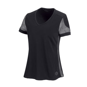 Harley-Davidson® Womens 3D Mesh Accent Tee - 99235-19Vw T-Shirts