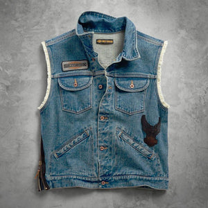 Harley-Davidson® Mens Blowout Slim Fit Denim Vest - 99257-19Vm Vests