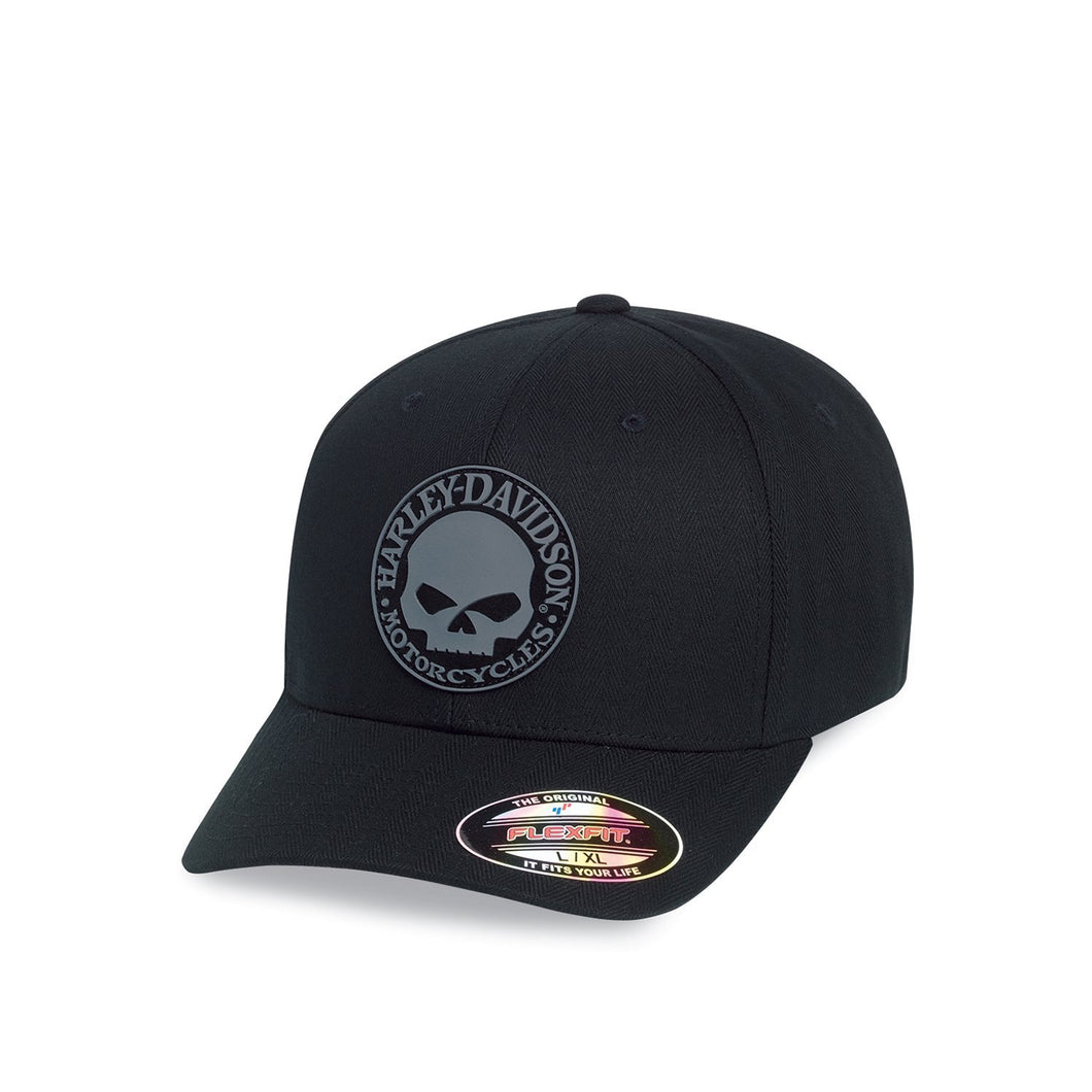 Harley-Davidson® Mens Rubber Skull Patch Stretch Cap - 99409-16Vm Accessories