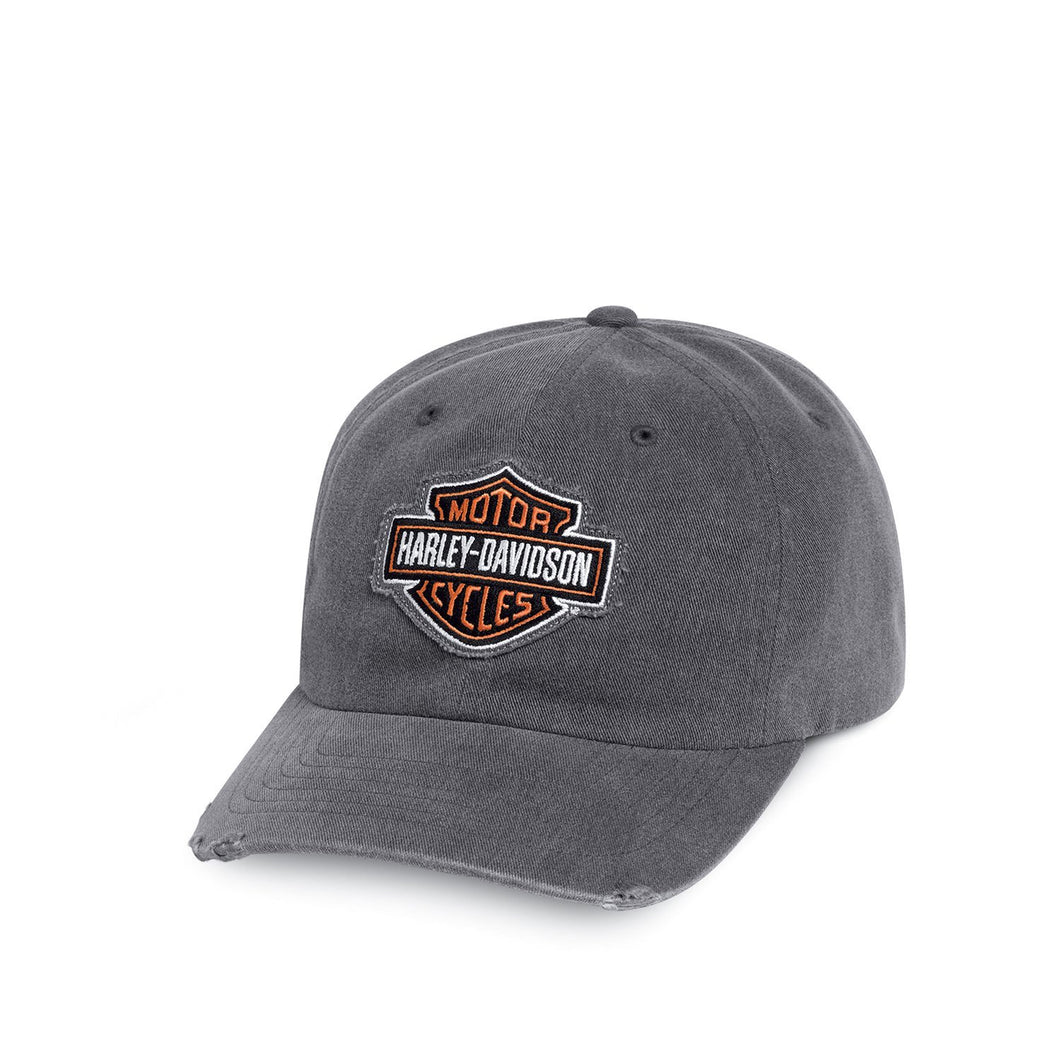 Harley-Davidson® Mens Grey Frayed Logo Cap - 99412-16Vm Accessories