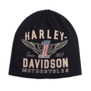 Harley-Davidson® Mens Winged #1 Knit Hat - 99488-17Vm Accessories