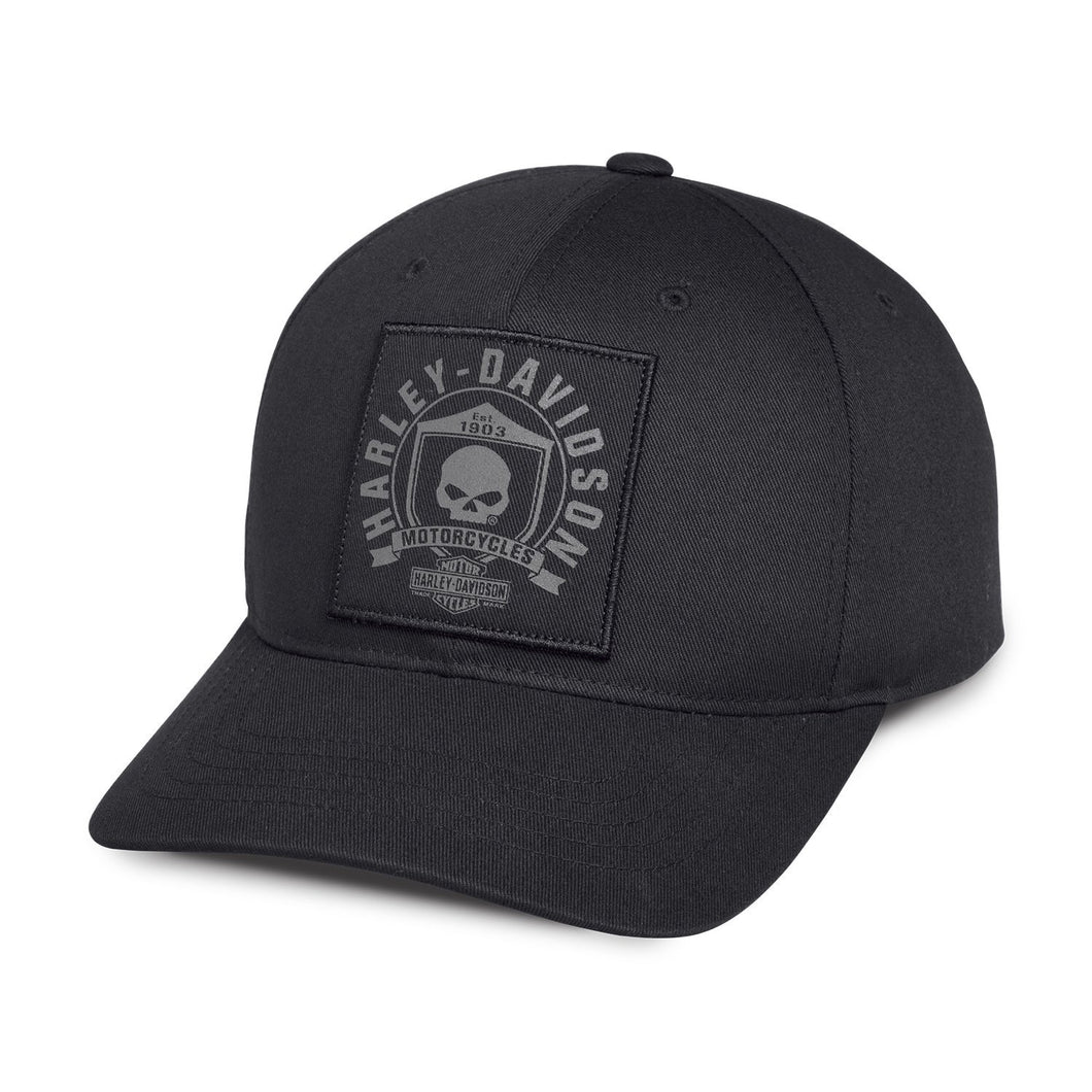 Harley-Davidson® Mens Willie G Skull & Shield Patch Baseball Cap - 99492-17Vm Accessories