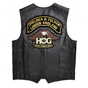 H.o.g.® Mens Chelsea & Fulham Chapter Leather Vest Vests