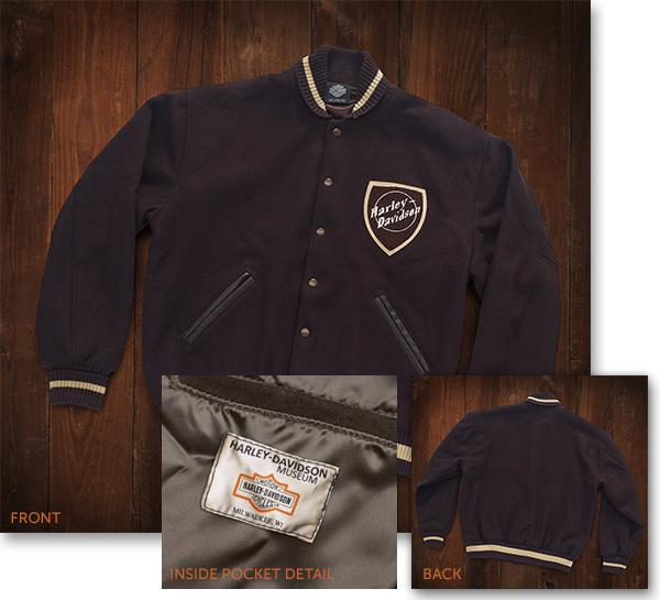 Harley-Davidson® Museum Mens Wool Jacket Casual Jackets